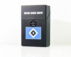 Zigarettenbox Small, Etui, HSV Hamburg Hamburger SV Sprungdeckel, black