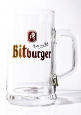 Bitburger Bier, Bierglas, Exclusive Seidel, Bierkrug 0,25l, sehr altes Glas