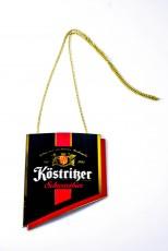 Köstritzer Bier, Emaile Zapfhahnschild Schwarz rot mit Kette