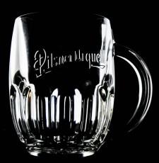 Pilsener Urquell Bierkrug, Bierglas, Seidel, Krug, one Pint Tankard  Bodenprägung