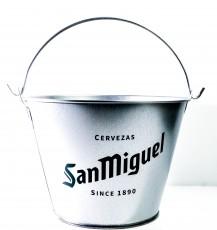 San Miguel Bier, Voll verzinkter Eiseimer, Eiswürfelbehälter, Flaschenkühler