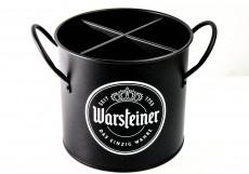 Warsteiner Bier, Voll Metall Besteckhalter, Besteckkasten, Mattschwarz Lackiert