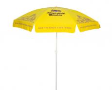 König Ludwig Weissbier, Sonnenschirm, Sonnenschutz, gelbe Ausführung Knickbar.