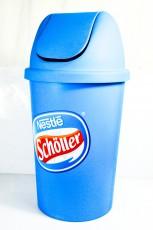 Schöller Eis Ice Cream Schwing Mülleimer, Abfallbehälter blau