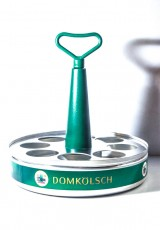 Dom Kölsch Bier. Aluminium Stangen Serviertablett, Karusselltablett für 8 Gläser