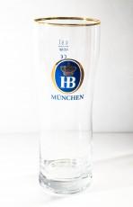 Hofbräu Bier München, Bierglas Rastal Handglas Goldrand 0,5l Biergläser