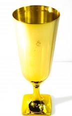 Johnnie Walker, Gold Whisky, Sonderedition Massiver Goldkelch mit Gravur, limitiertes Glas