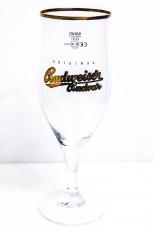 Budweiser Bier, Gläser, Bierglas, Pokalglas Goldschrift, 0,3l Gold Edition