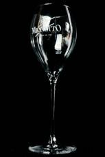 Mionetto Sekt, Bauchiges Flötenglas, Sektglas, Prosecco Glas 0,1l Mionetto Logo Dopppellinie