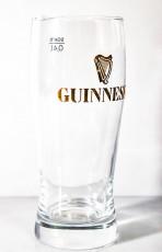 Guinness Beer Glas / Gläser, Bierglas Ideal Becher 0,4l, Gold eingeätztes Logo