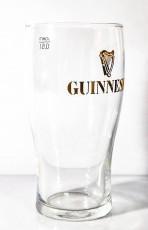 Guinness Beer Glas / Gläser, Bierglas Ideal Becher 0,5l, Gold eingeätztes Logo