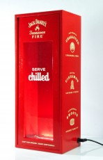 Jack Daniels Whisky, XXl Echtholz LED Bottle Glorifier Fire Flaschenaufsteller