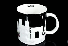 Starbucks Kaffeebecher, Citybecher, City Mug, im Relief Paris 473ml