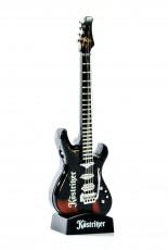 Köstritzer Schwarzbier, Mehrwegfeuerzeug Guitar auf Halterung, black, Wiederbefüllbar, Sonderedition