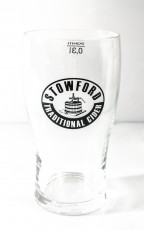 Stowford Press Ciderglas, Half Pint Glas 0,3l black Edition