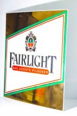 Fairlight Pilsener, Emaile Werbeschild, Blechschild aus der Ausstellung