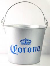 Corona Extra Eiswürfeleimer, Eiswürfelbehälter, Eisbox, Flaschenkühler, Zink