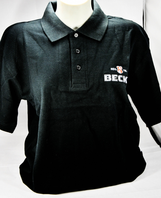 becks bier herren polo shirt schwarz gr m sehr. Black Bedroom Furniture Sets. Home Design Ideas