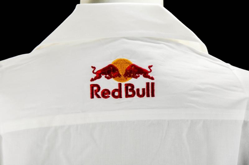red bull damen kellnerbluse wei 3 4 arm gestic. Black Bedroom Furniture Sets. Home Design Ideas