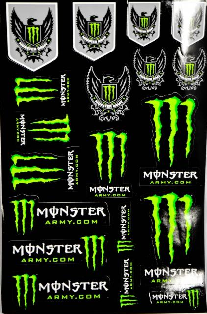 monster energy original 19x army aufkleber stick. Black Bedroom Furniture Sets. Home Design Ideas