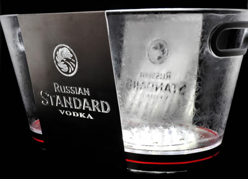 russian standard vodka led flaschenk hler eisw rf. Black Bedroom Furniture Sets. Home Design Ideas