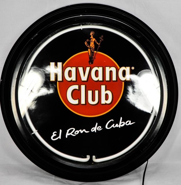 havana club rum neon leuchtreklame ausstelungss. Black Bedroom Furniture Sets. Home Design Ideas