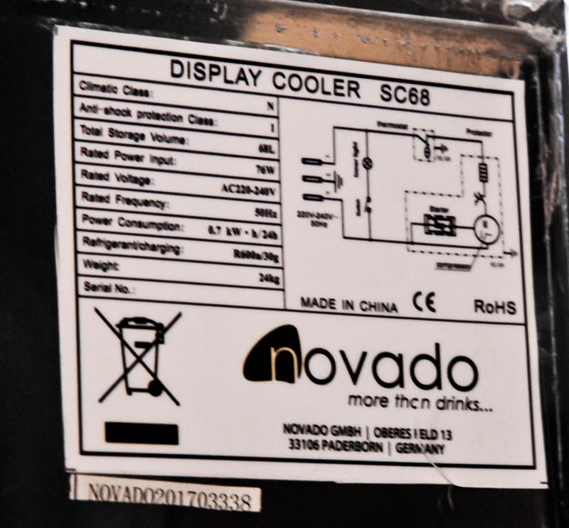 Effect Energy, Edelstahl LED - Gastro Kühlschrank,