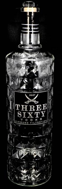 three sixty vodka xxl dekoflasche schauflasche. Black Bedroom Furniture Sets. Home Design Ideas