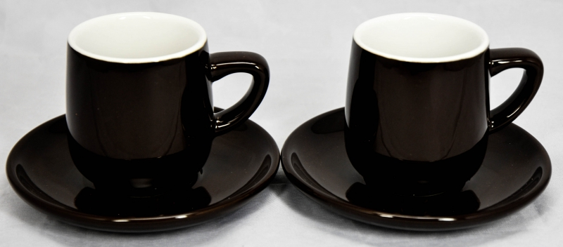tchibo kaffee 2er espresso set tasse untertasse. Black Bedroom Furniture Sets. Home Design Ideas