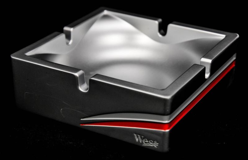 west tabak aluminium aschenbecher eckig gro n. Black Bedroom Furniture Sets. Home Design Ideas