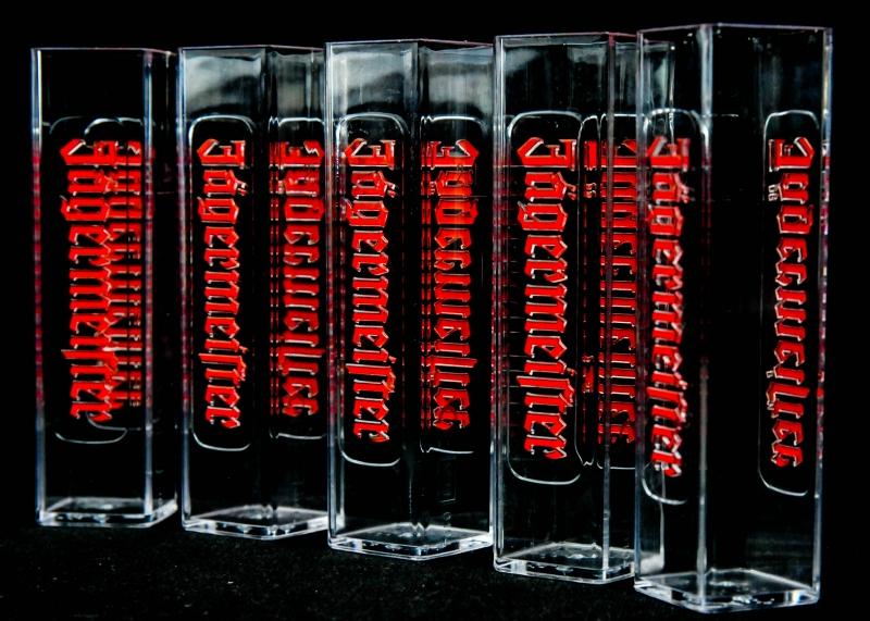 Red Bull Mini Kühlschrank Jägermeister : Jägermeister likör glas gläser acryl reagenzglas