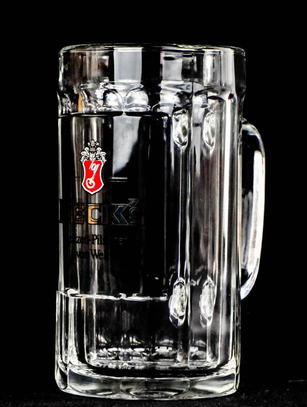 Silberne Schrift Becks Bier Gläser Staufeneck Seidel 0,4l