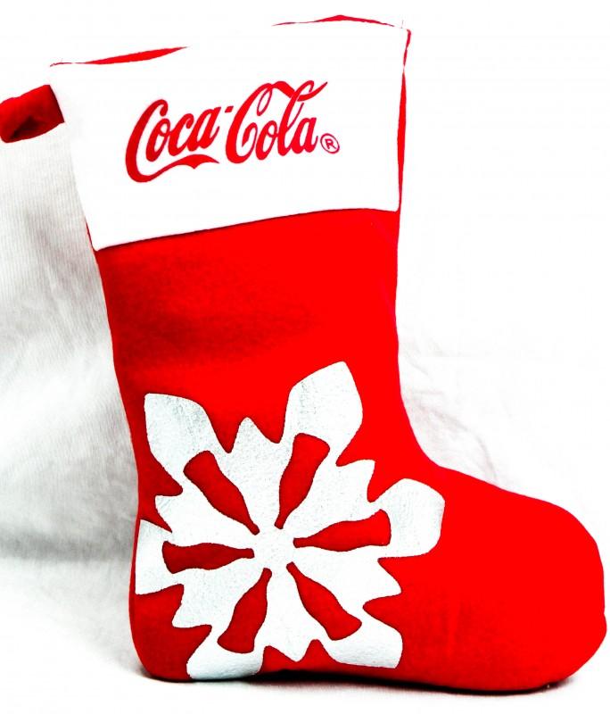 Coca Cola, XXL Nikolaus Strumpf, Weihnachs Strumpf, Wei