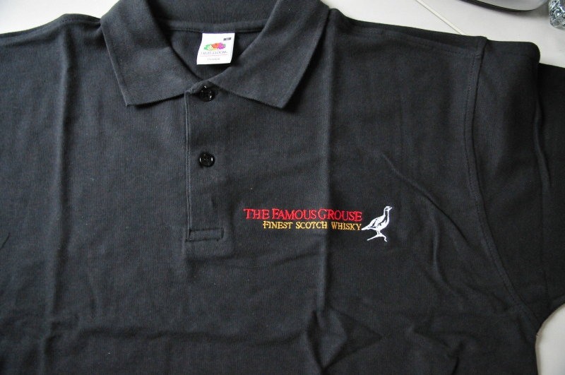 The Famous Grouse Polo Shirt Schwarz In M Mit Logo