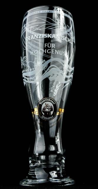 Franziskaner Weissbierglas mit Effekt 0,5l,Limitierte Edition,OVP