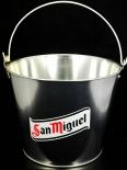 San Miguel Eiswürfeleimer, Flaschenkühler, Eiswürfelbehälter, verzinkt