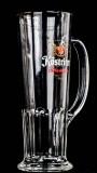 Köstritzer Schwarzbier Glas, Gläser, Bierglas, Biergläser, Habsburgseidel gold 0,5l, Krug