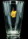 Riemerschmid Sirup Glas / Gläser, Trinkglas Schmetterling orange