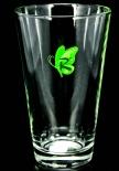 Riemerschmid Sirup Glas / Gläser, Trinkglas Schmetterling grün