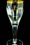 Köstritzer Schwarzbier Glas, Gläser, Bierglas, Biergläser, Pokal, Goldrand 0,2l