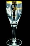Köstritzer Schwarzbier Glas, Gläser, Bierglas, Biergläser Edition 1, Pokal, Goldrand 0,2l