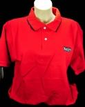 Ramazzotti Likör Polo Shirt, rot, blauer Kragen, Gr.M mit Logo OVP