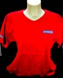 Ramazzotti Likör T-Shirt, V-Ausschnitt, rot, Gr.L mit Logo OVP