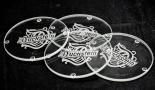 Duckstein Bier Glasuntersetzer / Untersetzer 4 Stück aus Glas + Gravur