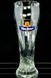 Tucher Bier Glas / Gläser, Weizenbierglas, Weissbierglas, Reliefprägung 0,5l