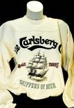 Carlsberg Sweatshirt / Pullover / Sweater Creme/Beige Gr. XXL