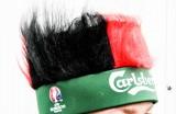 Carlsberg Bier, Mütze, Hut, Fanhut, Partyhut Fan-Haare Deutschland