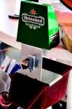Heineken Bier Flaschenöffner, Tischflaschenöffner mit Auffangbecher