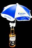 Corona Extra Flaschen-Sonnenschirm blau/weiss, Durchmesser 28 cm