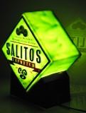 Salitos Bier, Leuchtreklame, Leuchtwerbung, beidseitiges Leuchtschild mit Schalter Salitos imported